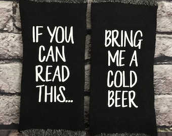 Beer Socks If you can read this bring me a cold beer Funny Dad or Mom socks Birthday, Anniversary Gift