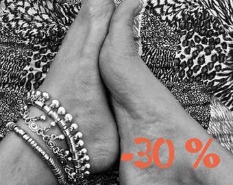 SUMMER SALE / / / Summer mood in the silver ankle Bracelet / / / Bohemian gypsy ethnic anklet