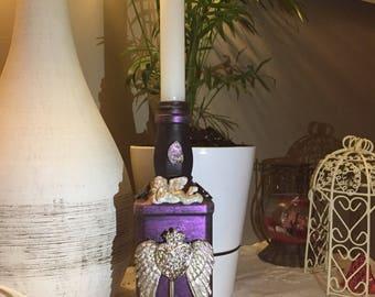Bottle - The Angel in purple heart