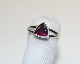 """Sale """"low price"""" Natural Rhodolite Garnet solitaire Ring 925 Sterling silver stamped,engagement/Wedding ring All sizes."""