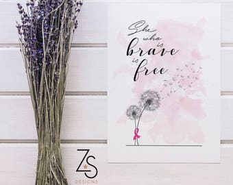 Breast Cancer Motivational Prints - A4 or A5 (Donation made to my Breast Cancer Care fundraising for the Moonwalk with every purchase)