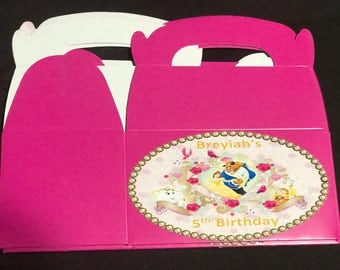 Beauty and the Beast party favor boxes