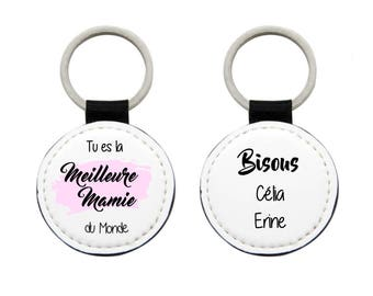 Key best Grandma in the world personalized with name of the grandchildren grandmothers day gift