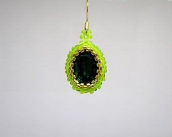 Preciosa Emerald Swarovski earrings.