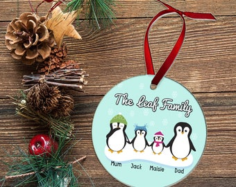 Family Christmas Bauble Personalised,Bauble First Christmas, Christmas Bauble,Family christmas decoration, Custom Family Christmas Ornament