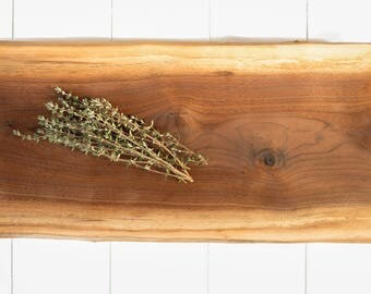 Salvaged Walnut Footed Board // Real Wood Tray // Polenta Board