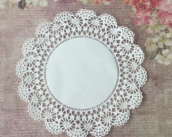 White Lace Paper Doilies Junk Journals, Crafting Embellishments, Party Supplies, Scrapbooking, Mixed Media Art, Bag Toppers, Decorations