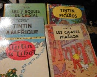 lot 60 year tintin comics