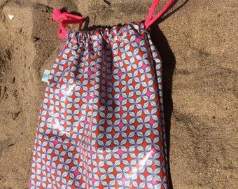 snack pouch pink clutch waterproof swimsuit