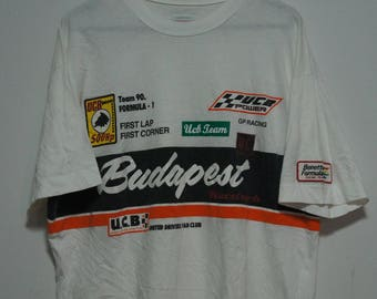 Vintage Benetton Formula One F1 Racing TEAM size. M