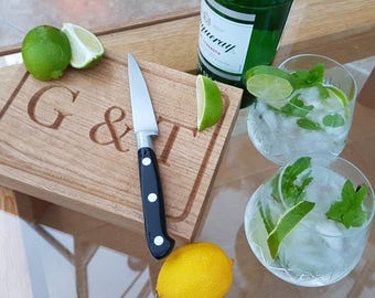 Gin and Tonic Board - in stunning hand crafted solid oak