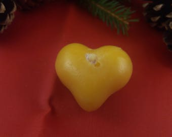 Candle heart from beeswax, Bienewachskerze candle Heart