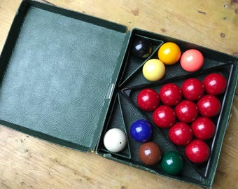 Vintage Pool / Billiard Balls 1 3/8 inch