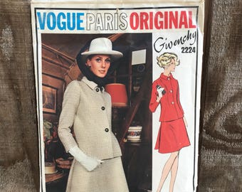 Givenchy Vogue Paris Original Pattern // 1960's // Cut Pattern