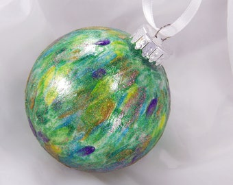 Christmas Ornament. Painted Ornament. Handpainted Ornament. Holiday Ornament. Tree Trimming.