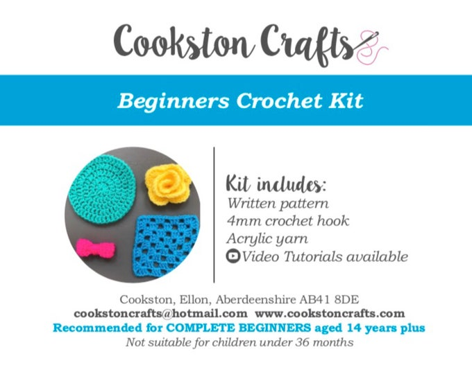 Beginners Crochet Kit - all you need to learn to crochet the basics with detailed video tutorials
