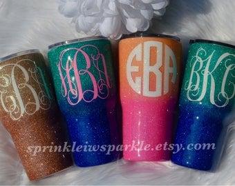Glitter Yeti/Glitter Ozark/Glitter RTIC/Glitter mug/Glitter Tumbler/Yeti/RTIC/Ozark/Yeti Decal/Glitter cup/Ombre Glitter Yeti/Coffee mug