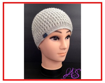 Instant Download Hat Crochet Pattern Easy to Follow - Beanie Hat for Men - Winter Beanie Hat Crochet Pattern