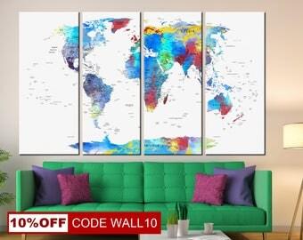 World Map Gift, World Map Print, Map canvas, World Map Canvas, World Map, World Map Canvas, World Map Poster, Map Wall Art, Map Wall decor