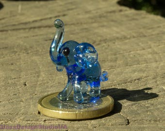 Glass Figurine elephant glass animals elephant Glass figurines murano glass art blown Miniature lampwork Collectible Home decor Unique Gifts