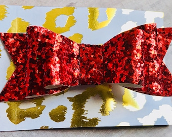 Red Bow Red Glitter Bow Red Sparkle Bow Red Bows Red Glitter Bows Red Sparkle Bows Red Hair Clip Red Christmas Bow Christmas Bow Girl Gift