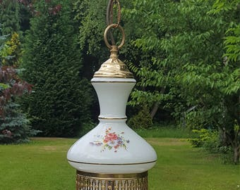 Very pretty vintage French glass shade Lantern (47)