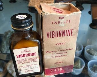 Medicine bottle and box vintage