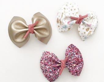 Unicorn headband, pink glitter headband, gold headband, faux leather headband, baby gift, newborn headband, baby shower, baby girl, rts