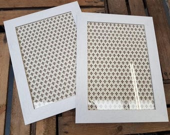 Solid Wood Picture frames made in cumbria, pack of 4 frames in white