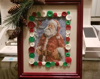 Santa Claus Christmas Picture and Frame