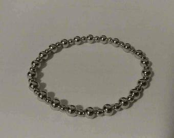 Silver Tone Handmade Bracelet
