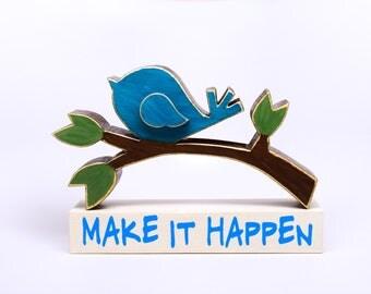 Bird on a Branch, Spring Decor, Summer Decor, Bird Decor, Make It Happen, Gift Idea
