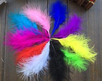 100pcs random colors 10-15cm Marabou Feathers goose down Fluffy