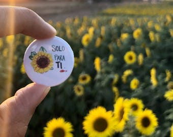 SOLo Para Ti + Sunflowerval BUTTON PIN SET/ 1.25 in
