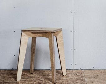 ON SALE Plywood stool - compact and cute