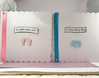 Newborn Baby Girl's, Boys New Arrivals, Welcome Baby, Baby Congratulations, Baby Feet Greeting Card