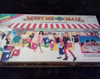 Meet me at the Mall- The Mall Shopping Game by Tyco Games Vintage 1990