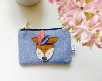 Little fawn woolfelt purse