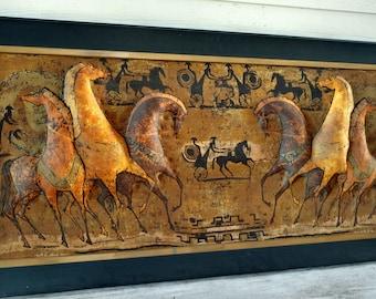 Horse Wall Art Large, Horse Wall Art Canvas, Horse Decor, Horse Art, Equestrian Decor, Equestrian Gifts, Equestrian Art, Horse Wall Decor
