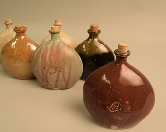 Round Red Flask