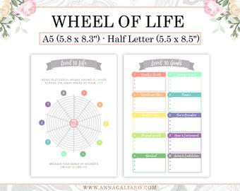 New Year Planner, Resolutions Planner, Level 10 Life Printable, Goal Planner, Bullet Journal, New Year Gift, Goal Setting, A5, Half letter