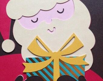 Handmade Christmas Card, Merry Christmas, Santa Claus Card, Handmade Gifts, Special Card