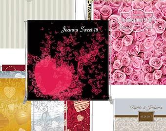 Custom 8x8' Backdrop Design for weddings, birthdays, anniversaries, any events - DIGITAL PRINTS
