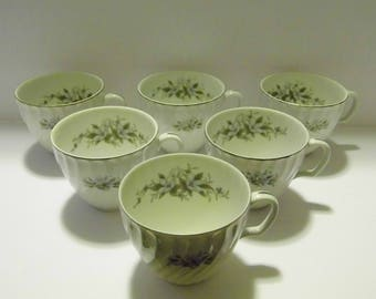 Royal Hostess Alyce 492 Teacups made in Japan set of 6 tea cups - Priority Shipping! MORE teacups in shoppe!