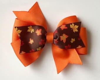 Thanksgiving hair bow/Thanksgiving bows/Thanksgiving hair bows/Thanksgiving hair clips/Fall hair bows/Fall hair clips/Fall hair accessories