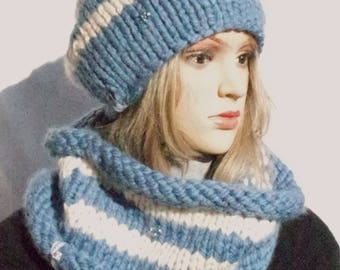 Set: Cap and loop scarf