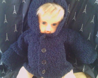 Available hand knitting baby coat