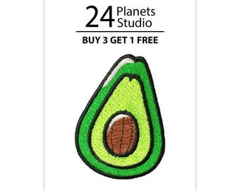 Avocado Iron on Patch by 24PlanetsStudio - cute patches, funny patches, patches for jackets