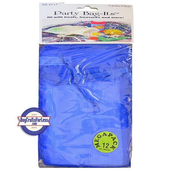"""Sheer Organza Bag-its, 72 pcs 4 1/2"""" x 7"""", Royal Blue +FREE SHIPPING & Discounts*"""
