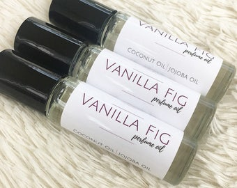 Vanilla Fig Perfume Oil, Perfume Oil, Aromatherapy, Roll On Perfume, Beauty, Scented Body Oil